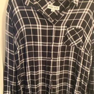 Long sleeve flannel shirt